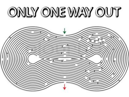 black rounded maze